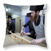 Preparing Matzah Israel Throw Pillow