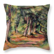 Pres Du Jas De Bouffan Throw Pillow by Paul Cezanne