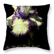 Presby's Crown Jewel Iris  Throw Pillow