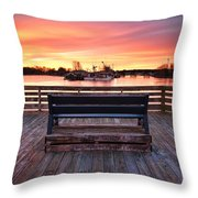 Prescott Pier Throw Pillow by Eric Gendron