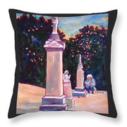 Present Meets Past Throw Pillow by Kathy Braud
