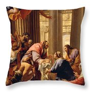 Presentation In The Temple Throw Pillow by Simon Vouet