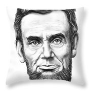 President Abe Lincoln Throw Pillow