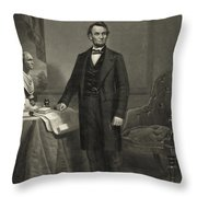 President Abraham Lincoln Throw Pillow by International  Images