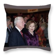 President And Mrs. Jimmy Carter Nobel Celebration Throw Pillow