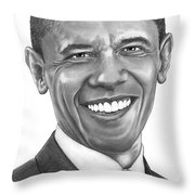 President Barack Obama By Murphy Art. Elliott Throw Pillow