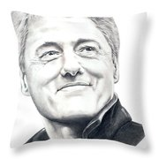 President Bill Clinton Throw Pillow