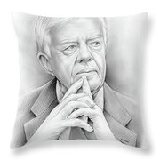 President Carter Throw Pillow
