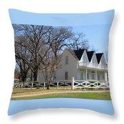 President Dewight Eisenhower Birthplace Throw Pillow