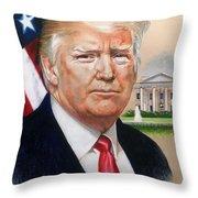 President Donald Trump Art Throw Pillow
