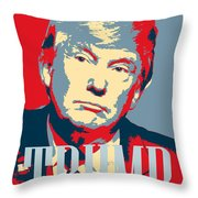 President Donald Trump Hope Poster 2 Throw Pillow