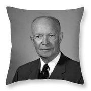 President Eisenhower Throw Pillow