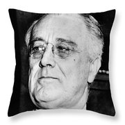 President Franklin Delano Roosevelt Throw Pillow by War Is Hell Store