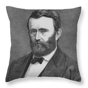 President Grant Throw Pillow