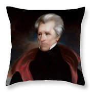 President Jackson Throw Pillow