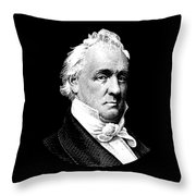 President James Buchanan Graphic Throw Pillow