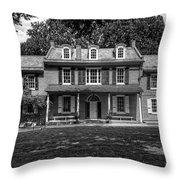 President James Buchanan's Wheatland In Black And White Throw Pillow