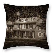 President James Buchanan's Wheatland In Sepia Throw Pillow