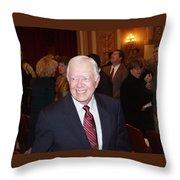 President Jimmy Carter - Nobel Peace Prize Celebration Throw Pillow