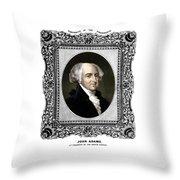 President John Adams Portrait  Throw Pillow by War Is Hell Store