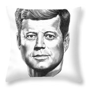 President John F. Kennedy Throw Pillow