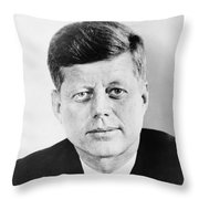 President John F. Kennedy Throw Pillow by War Is Hell Store
