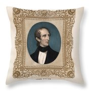 President John Tyler - Vintage Color Portrait Throw Pillow