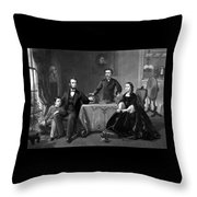President Lincoln And His Family  Throw Pillow by War Is Hell Store