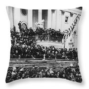 President Lincoln Gives His Second Inaugural Address - March 4 1865 Throw Pillow
