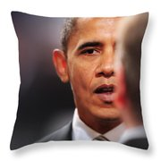 President Obama II Throw Pillow