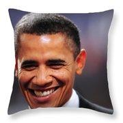President Obama IIi Throw Pillow