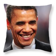 President Obama Iv Throw Pillow