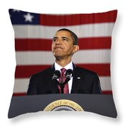 President Obama Throw Pillow by War Is Hell Store