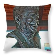 President Reagan Bust Throw Pillow