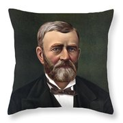 President Ulysses Grant Throw Pillow