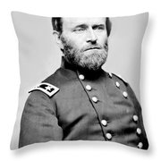 President Ulysses S Grant In Uniform Throw Pillow by International  Images