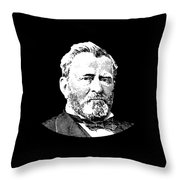 President Ulysses S. Grant Throw Pillow