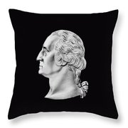 President Washington Bust  Throw Pillow