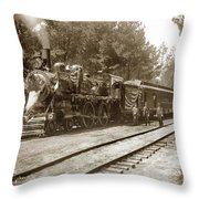 President William Mckinleys Presidential Locomotive No. 1456  May 1901 Throw Pillow
