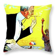 President Woodrow Wilson And The 15th Proposition For The League Of Nations Throw Pillow