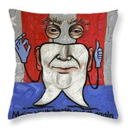 Presidential Tooth 2 Throw Pillow by Anthony Falbo