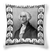 Presidents Of The United States 1789-1889 Throw Pillow