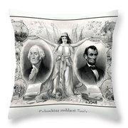 Presidents Washington And Lincoln Throw Pillow