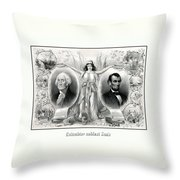 Presidents Washington And Lincoln Throw Pillow
