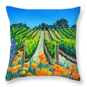 Presidio Vineyard Throw Pillow