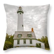 Presque Isle Lighthouse  - Lake Huron, Lower Peninsula, Mi Throw Pillow