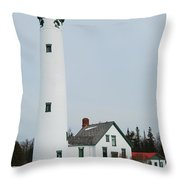 Presque Isle Lighthouse Throw Pillow