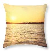 Presque Isle Sunset Throw Pillow