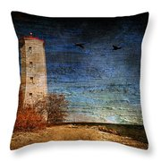 Presquile Lighthouse Throw Pillow