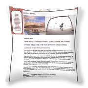 Press Release Carole Spandau Paints Cover Art For Hockeytown Cd By Tim Hus Throw Pillow